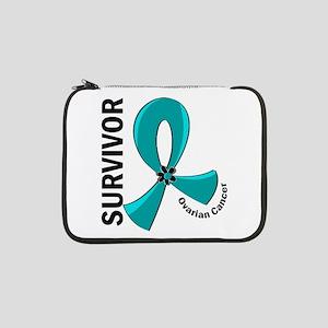 "Ovarian Cancer Survivor 12 13"" Laptop Sleeve"