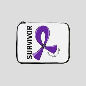 "Pancreatic Cancer Survivor 12 13"" Laptop Sleeve"