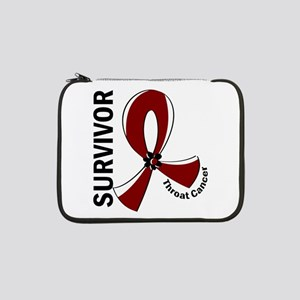 "Throat Cancer Survivor 12 13"" Laptop Sleeve"