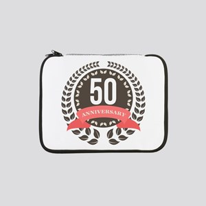 "50 Years Anniversary Laurel Badg 13"" Laptop Sleeve"