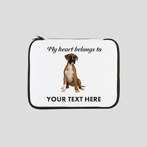 """Personalized Boxer Dog 13"""" Laptop Sleeve"""