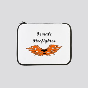 """Female Firefighter 13"""" Laptop Sleeve"""