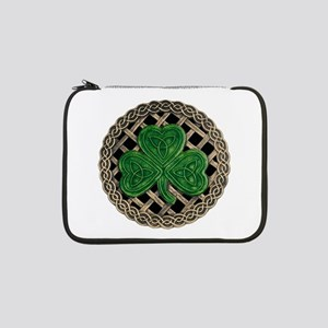 "Shamrock And Celtic Knots 13"" Laptop Sleeve"