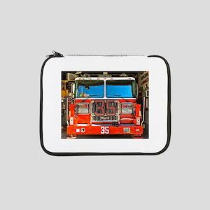 "Big Red Fire Truck (II) 13"" Laptop Sleeve"