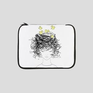 "Bird's Nest Hair 13"" Laptop Sleeve"