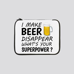 """I Make Beer Disappear 13"""" Laptop Sleeve"""