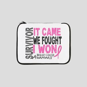 "Breast Cancer Survivor 2 13"" Laptop Sleeve"