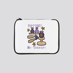 """Pottery My Therapy 13"""" Laptop Sleeve"""