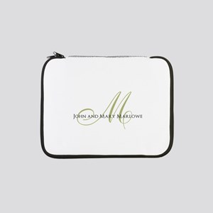 """Names and Monogrammed Initial 13"""" Laptop Sleeve"""