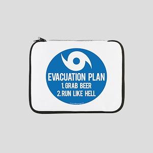 "Hurricane Evacuation Plan 13"" Laptop Sleeve"