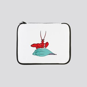 "Lobster Eating Dinner 13"" Laptop Sleeve"