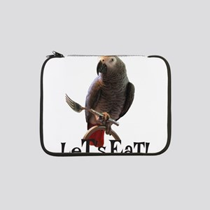 """Funny African Grey Parrot Let&#3 13"""" Laptop Sleeve"""