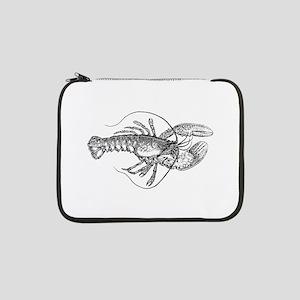 "Vintage Lobster illustration 13"" Laptop Sleeve"