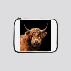 "Highland Cow Portrait In Colour 13"" Laptop Sleeve"