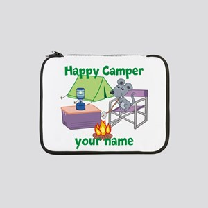 "Custom Happy Camper Mouse 13"" Laptop Sleeve"