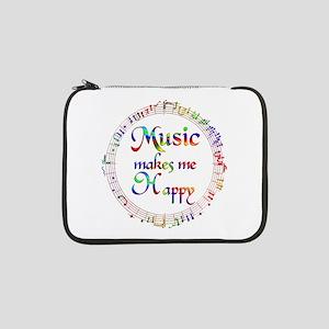"Music makes me Happy 13"" Laptop Sleeve"