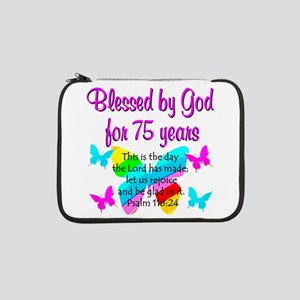 "75 YR OLD ANGEL 13"" Laptop Sleeve"