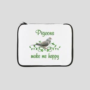 "Pigeons Make Me Happy 13"" Laptop Sleeve"