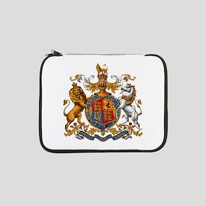 "British Royal Coat of Arms 13"" Laptop Sleeve"
