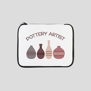 "Pottery Artist Vases 13"" Laptop Sleeve"