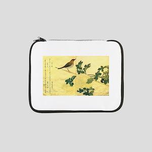 "Great Tits - Ukiyo-e by Utamaro 13"" Laptop Sleeve"