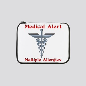 "Multiple Allergies Medical Alert 13"" Laptop Sleeve"