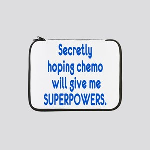 """Funny Cancer Chemo Superpowers 13"""" Laptop Sleeve"""