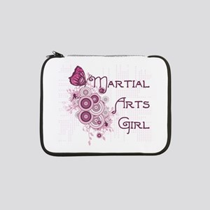 """Martial Arts Girl Butterfly 13"""" Laptop Sleeve"""