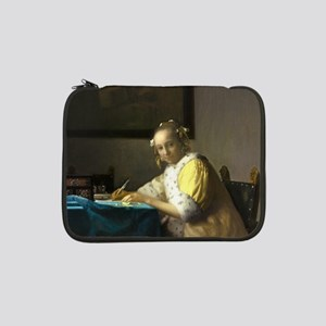 """A Lady Writing by Johannes Vermeer 13"""" Laptop Slee"""