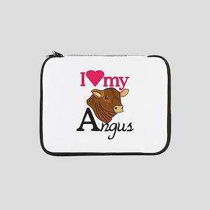 "I Love My Angus 13"" Laptop Sleeve"