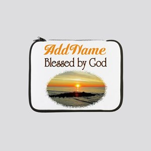 "BLESSED BY GOD 13"" Laptop Sleeve"