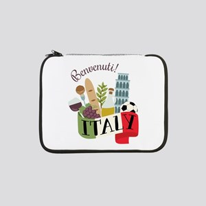 "Benvenuti! Italy 13"" Laptop Sleeve"