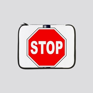 "Octagon Stop Sign 13"" Laptop Sleeve"