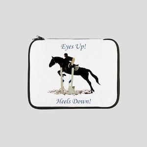 """Eyes Up! Heels Down! Horse 13"""" Laptop Sleeve"""