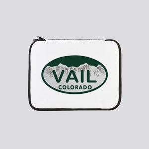 "Vail Colo License Plate 13"" Laptop Sleeve"