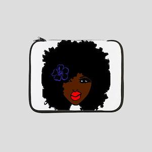 "BrownSkin Curly Afro Natural Hai 13"" Laptop Sleeve"