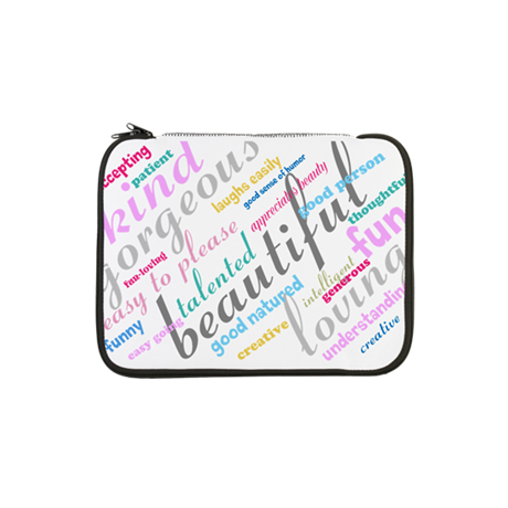 "Positive Thinking Text 13"" Laptop Sleeve"
