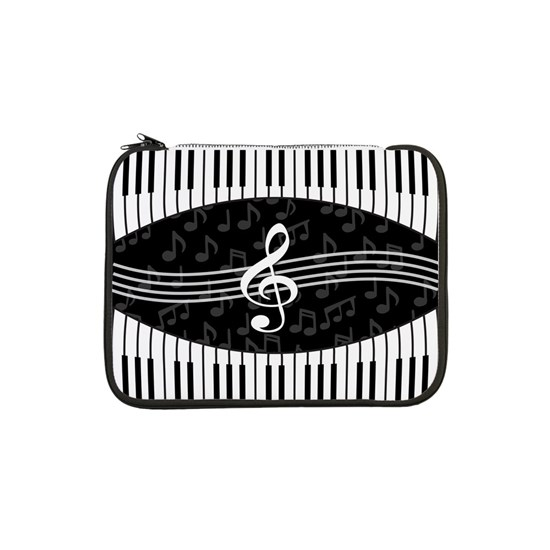 52964a013732 Stylish designer piano and music notes 13 Laptop