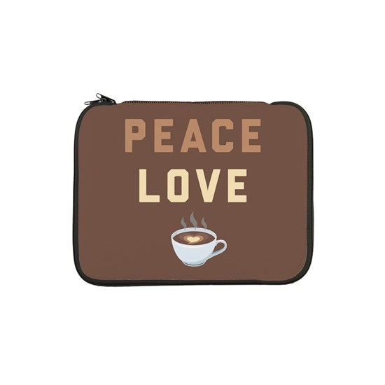Peace Love Coffee Emoji 13 Laptop Sleeve