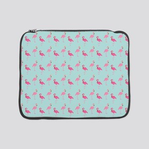 "Pink Flamingos Pattern 15"" Laptop Sleeve"