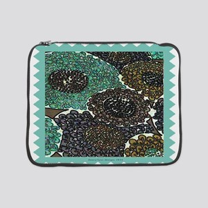 "Teal Zinnia 15"" Laptop Sleeve"