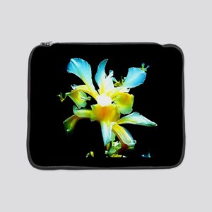 "Yellow Iris Painterly 15"" Laptop Sleeve"