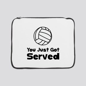 "Volleyball Served Black 15"" Laptop Sleeve"