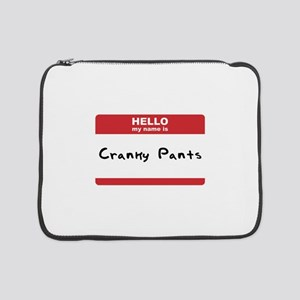 """Hello My Name Is Cracnky Pants SOT 15"""" Laptop"""