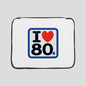 "I Heart 80s Blue ONLY 15"" Laptop Sleeve"