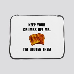 "Crumbs Off Me Gluten Free 15"" Laptop Sleeve"