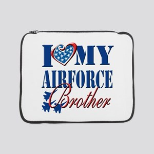 "I Love My Airforce Brother 15"" Laptop Sleeve"