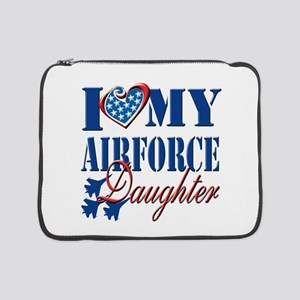 "I Love My Airforce Daughter 15"" Laptop Sleeve"