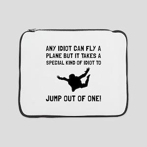 "Idiot Skydiving 15"" Laptop Sleeve"