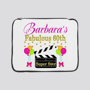 "STYLISH 60TH 15"" Laptop Sleeve"